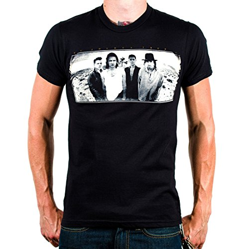 U2 'Joshua Tree' black lightweight t-shirt (Large), used for sale  Delivered anywhere in USA