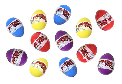 12 Doh Filled Easter Eggs - Jumping Putty - Pre Filled for E