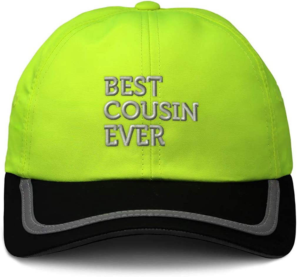Custom Reflective Running Hat Best Cousin Ever Embroidery Polyester One Size