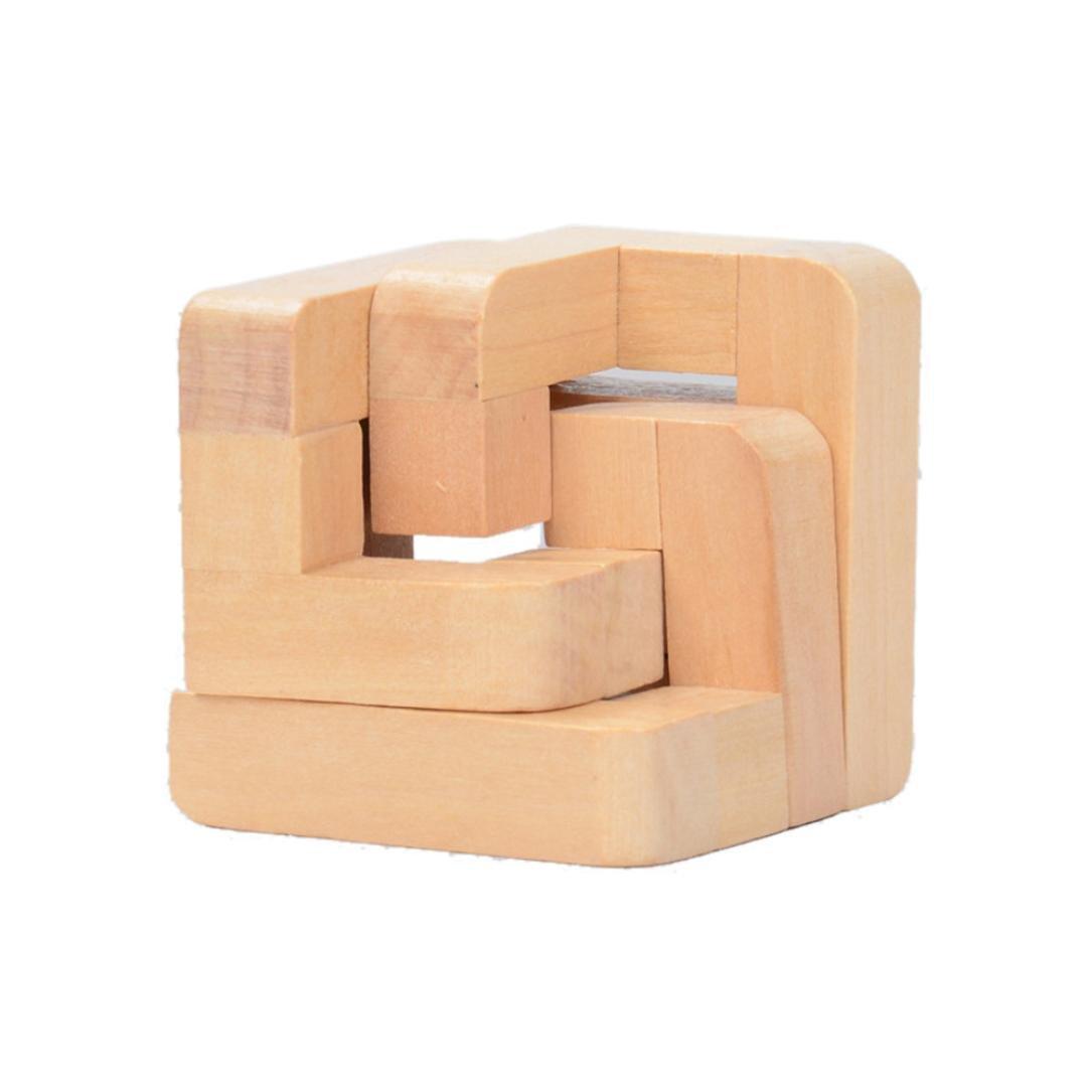 163d5714e2cf 60%OFF bescita 3d IQ rompecabezas de madera intelectual Kong Ming bloqueo  de IQ cerebro