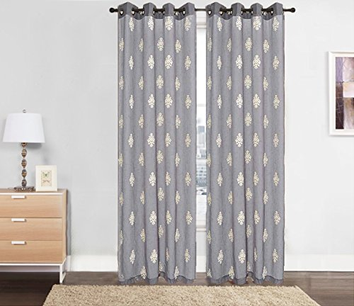 Sheer Curtain Embroidered Window Panel- Ideal Size- 54″ W X 84″-Variety of Different Colors.