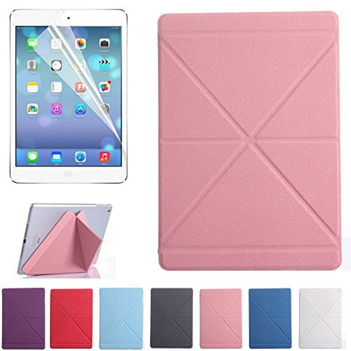 Super Slim Smart Leather Cover Case for Apple iPad Air 2 (Pink) - 9