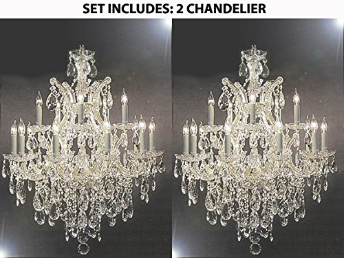 Swarovski crystal lighting Feng Shui Image Unavailable Lamps Plus Set Of Maria Theresa Swarovski Crystal Trimmed Chandelier
