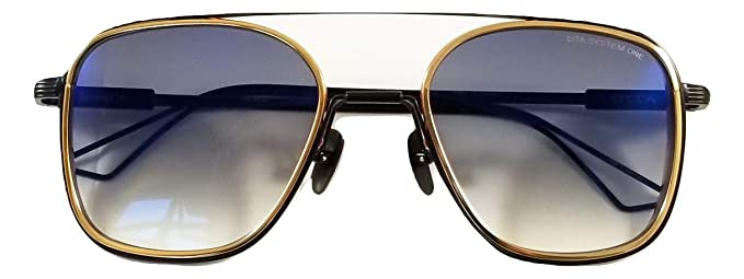 403780e9cb1 Dita System One Sunglasses Model DTS 103 with Gold-Black Frame and Grey  Gradient Lens  Amazon.co.uk  Clothing