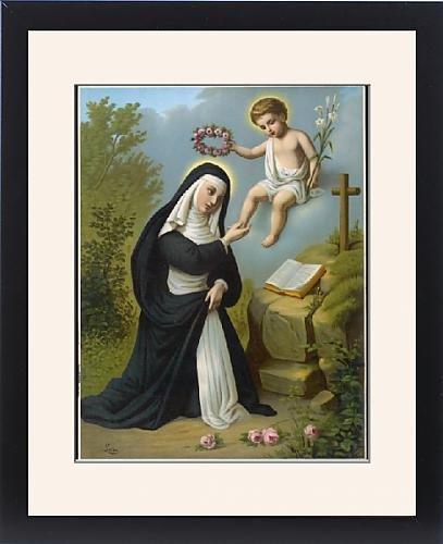Framed Print Of St Rosa De Lima by Prints Prints Prints