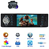 CARED 4.1 Inch Car stereo MP5 player/bluetooth Car Headunit radio audio receiver/Backup Camera/MP3/USB/SD/AUX in/12V TFT screen HD 1080P video/wireless Remot