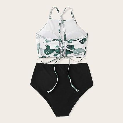 Bikini Mujer Push Up Cintura Alta 2019 Traje de Baño Punto Onda ...