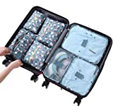 Sackorange 7 Set Travel Storage Bags Packing cubes Multi-functional Clothing Sorting Packages,Travel Packing Pouches,Luggage Organizer (Orchid)