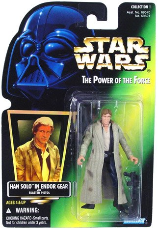 Star Wars Power of the Force - Han Solo in Endor Gear Action (Han Solo Pistol)