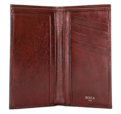 Old Pocket Cognac Brown Wallet Bosca Coat Old Bosca Leather Dark ZTqwX