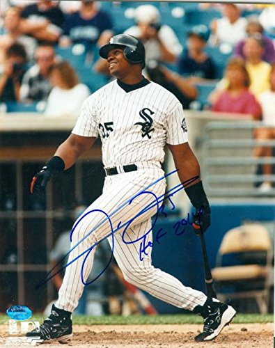 Frank Thomas autographed 8x10 photo (Chicago White Sox) Image #P2 inscribed HOF 2014 by Autograph Warehouse