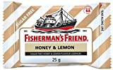 Fisherman's Friend Sugar Free Refreshing Honey & Lemon Flavor Cough Lozenges, 25g pack, (Pack of 12)