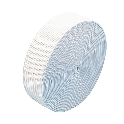 1 Inch 10 Yard White Knit Elastic Spool, Springy Stretch Knitting Sewing Elastic Band (Lightweight Spool)