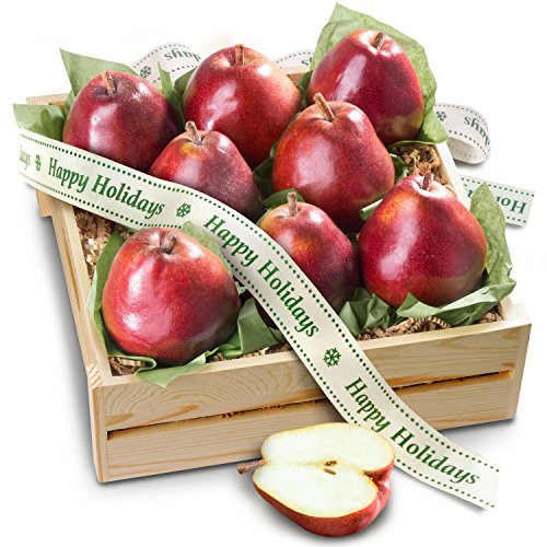 Golden State Fruit Red Comice Pear Holiday Gift Crate (Jarred Christmas Gifts)