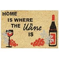 Relaxdays  Home Where The Wine Is Zerbino per Ingresso, Legno_Composito, Multicolore, 40 x 60 cm