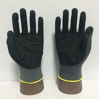 TARANTULA N1628 Grey Polyester Sandy Nitrile Gloves