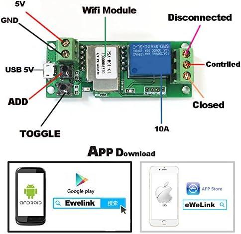 JIANGNANCHUN LDTR-WG0099 SSmart Home WiFi Telecomando Interruttore di Comando a Distanza Modulo di Blocco Porta di Accesso App