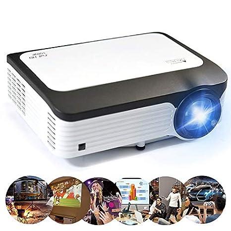 GoYisi Proyector LED, L6 5 Pulgadas 200 ANSI Lumen 1920 x 1080P ...