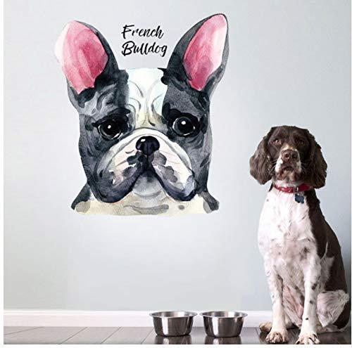 Perro Bulldog Francés Pegatinas De Pared Para Mascotas Acuarela ...