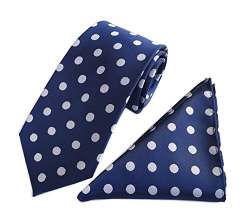 Men's Navy Blue Big Dots Fashion Tie Fashion Designer Brand Silk Adults - Designer Sale Online Brands