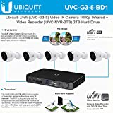 Ubiquiti Unifi (UVC-G3-5) Video IP Camera 1080p Infrared + Unifi Video Recorder (UVC-NVR-2TB) 2TB Hard Drive