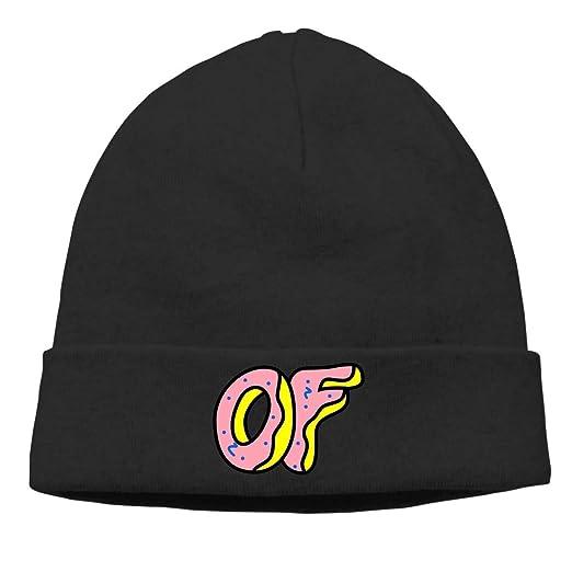 7f2d2628ed Amazon.com  Odd Future Skull Hats Knitted Cap Beanie Black  Clothing