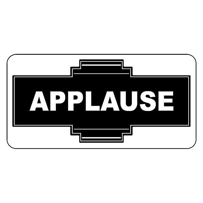 qidushop Applause Cartel de Aluminio Vintage Negro para ...