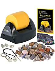 NATIONAL GEOGRAPHIC Starter Rock Tumbler Kit-Includes Rough Gemstones, 4 Polishing Grits, Jewelry Fastenings and detailed Learning Guide - Great STEM Science kit for Mineralogy and Geology enthusiasts