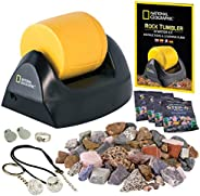 NATIONAL GEOGRAPHIC Starter Rock Tumbler Kit - Rock Polisher for Kids and Adults, Complete Rock Tumbler Kit, D