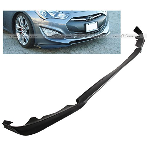 (Remix Custom Fits for 2013-2016 Hyundai Genesis 2DR Coupe KS-Style PU Front Body Bumper Lip Spoiler Kit 2014 2015)