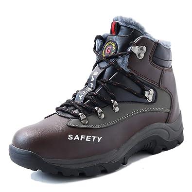 5e84d03a78c18 ZOEASHLEY Sicherheitsschuhe Herren Sportlich Winter Arbeitsschuhe  Sicherheitsstiefel mit Stahlkappe & Warm Gefütterte Gr.35-