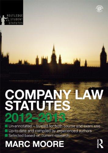 Company Law Statutes 2012-2013 (Routledge Student Statutes)