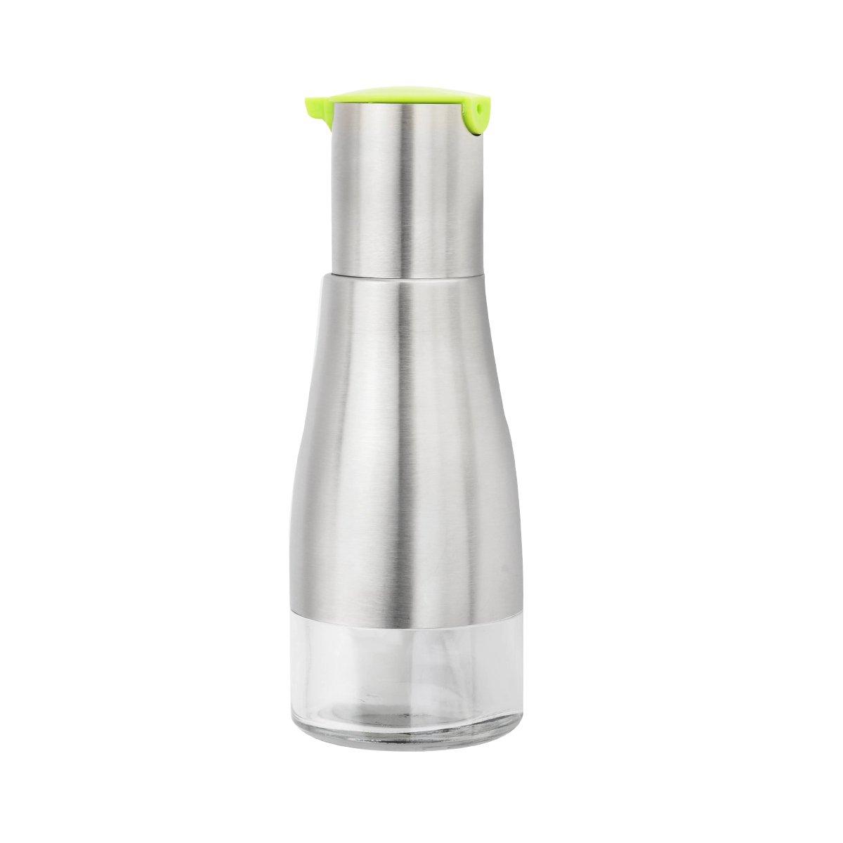 LONGLISHENG Stainless Steel Glass Oiler Leak-Proof Vinegar Bottle Condiment Sauce Container Kitchen Gadget