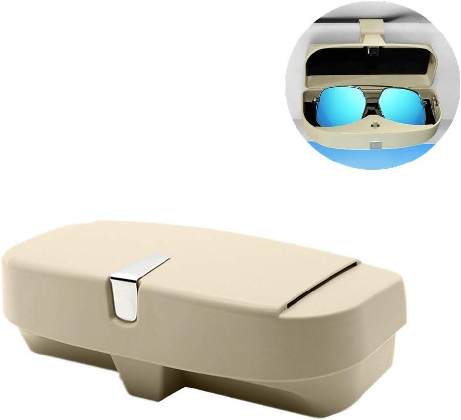 Auto Zubeh/öR Innenraum Brillenhalter F/üR Auto Lesebrille Halter Autozubeh/ör Interieur Visier Gl/äser Visier Sonnenbrille Beige,One Size
