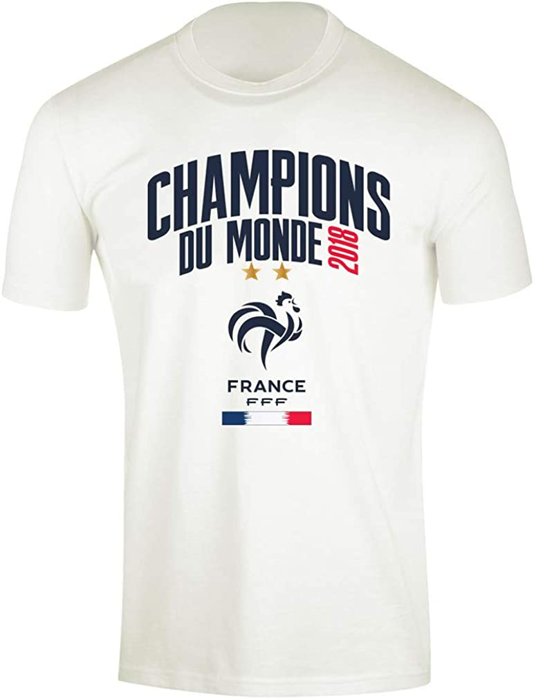 T-Shirt /Équipe de France Champions du Monde Officiel Blanc