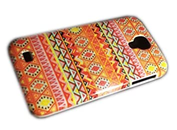 samsung galaxy s4 i9500 i9505 retro muster orange hard case bumper thematys - Galaxy Muster