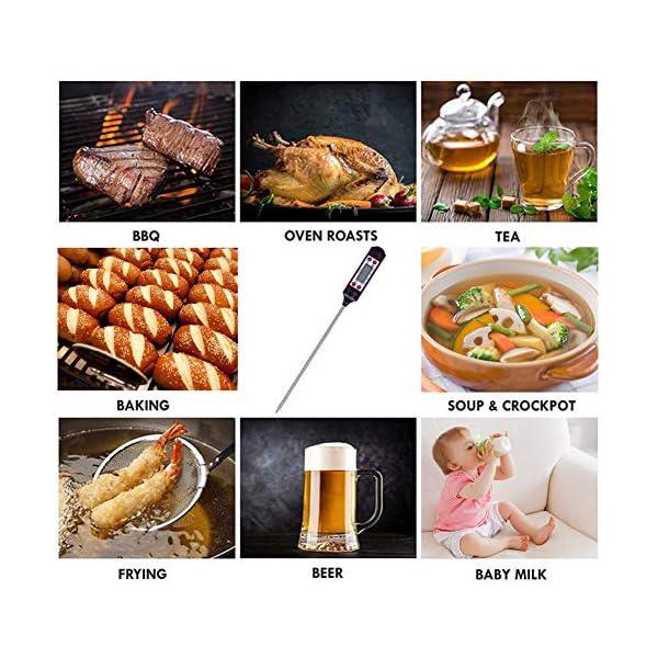 Nuonove Termometro Cucina, Termometri Carne, Termometro Digitale per Alimenti, Schermo LCD, per BBQ Cottura Alimenti… 6
