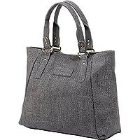 ZMSnow Women's PU Leather Handbags Lightweight Tote Casual Work Bag