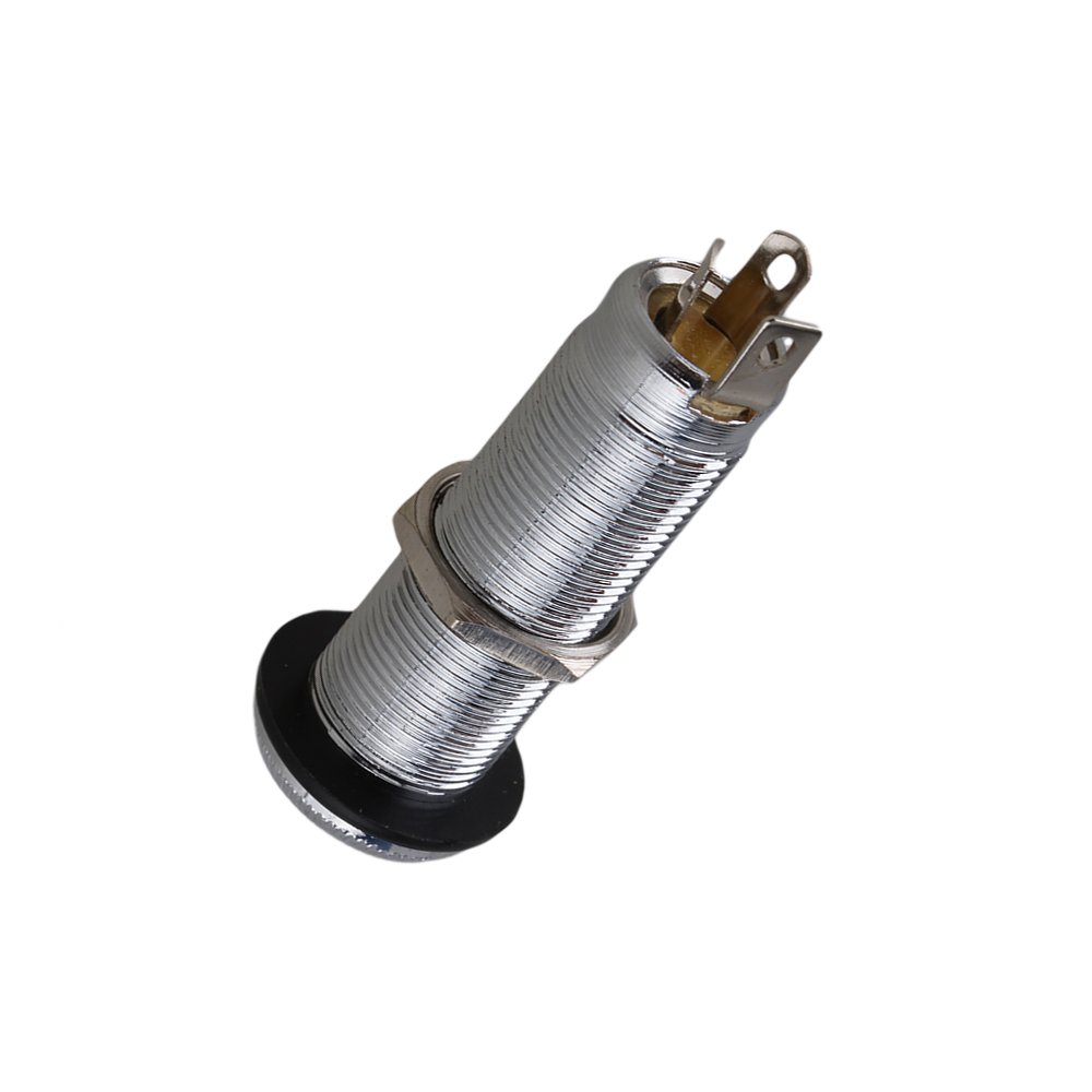 Yibuy Nickel Color Guitar Bass Cylinder Flush Mount Output Jack For Wiring Stereo Or Active Electronics Etfshop Yb0179