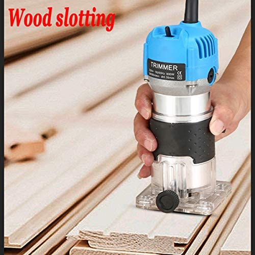 RSTJ-Sjap Wood Milling Engraving Slotting Trimming Machine 800W Woodworking Electric Trimmer Carving Engraving Furniture Processing