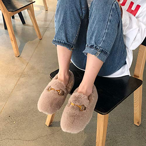 HRCxue Pumps Mode runde Kopf flach mit mit mit warmen Schuhen Damenschuhe 336002