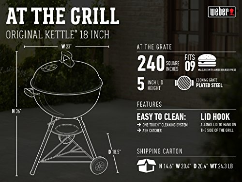 "Weber Original KettleTM 18"" Charcoal Grill"