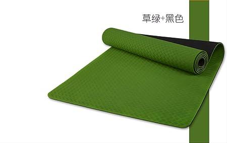 zfq TPE De Doble Cara Yoga Mat Fitness Ejercicio Mat para ...