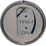 """Faria Chesapeake White SS 2"""" Trim Gauge (Mercury/Mariner/Mercruiser/Volvo DP/Yamaha-2001 and newer)"""