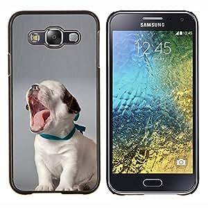 TECHCASE---Cubierta de la caja de protección para la piel dura ** Samsung Galaxy E5 E500 ** --Cachorro de bostezo del Beagle Familia del perro del bebé