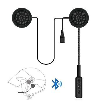 allcaca casco de moto casco de Bluetooth Auricular inalámbrico auricular Bluetooth auriculares de comunicación de con Chip de Sir Bluetooth, ...