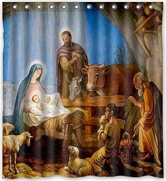 Amazon 66w X 72h Christmas Nativity Holy Family Tree