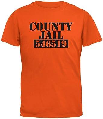 Old Glory REO de Cárcel del Condado de Halloween Traje Camiseta Adulto Naranja-2 X-Large: Amazon.es: Ropa y accesorios