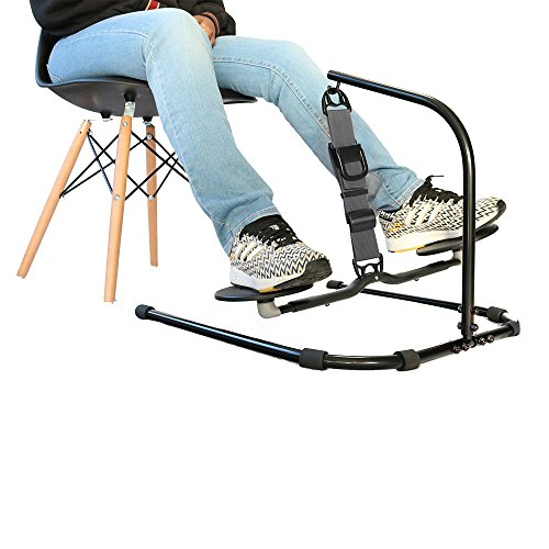 HOVR Portable - Under Desk Leg Swing, Sitting Exercise, Office Workout (Black)
