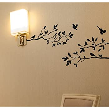Tree Branches Wall Decal With Birds Vinyl Sticker Nursery Leaves 40 Part 54